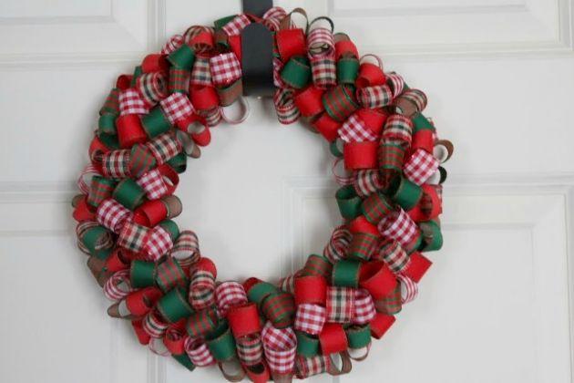 Corona de navidad compartimos for Cintas de navidad
